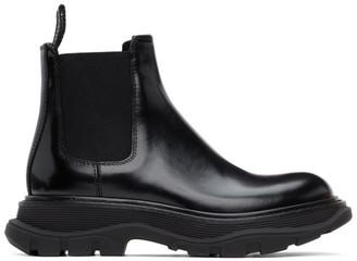 Alexander McQueen Black Tread Slick Chelsea Boots
