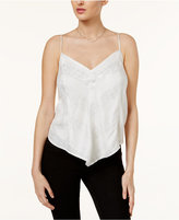 GUESS Neve Metallic Lace-Up Camisole