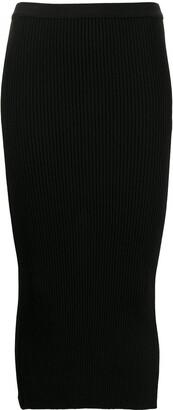No.21 Rib-Knit Pencil Skirt