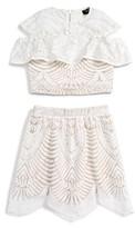 Girl's Bardot Junior Cold Shoulder Top & Skirt Set