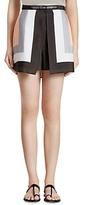 Halston Scarf Print Silk Shorts