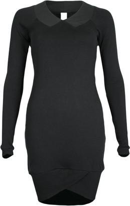 Format YOKE Black Interlock Dress - XS - Black