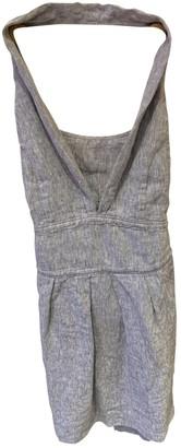 BOSS ORANGE Grey Linen Dress for Women