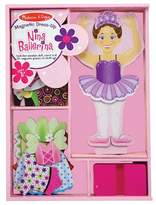 Melissa & Doug Deluxe Nina Ballerina Magnetic Dress-Up Wooden Doll With 27pc of Clothing