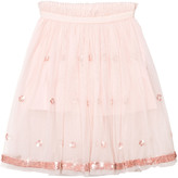 Billieblush Blush Pink Ballerina Length Skirt with Sequin Detail