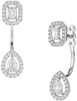 Messika My Twin Toi & Moi Small 18K White Gold Diamond Stud & Ear Jacket Set