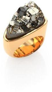 Chloé Bettina Pyrite Triangle Ring