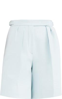 Max Mara Safari Pleated Cotton Knee-Length Shorts