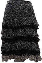 Marella Black Silk Skirt for Women