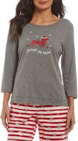 Sleep Sense Petite Dachshund Through the Snow Jersey Sleep Top