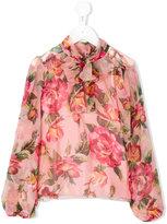 Dolce & Gabbana floral print blouse - kids - Silk/Viscose - 2 yrs
