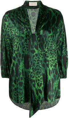 Alexandre Vauthier animal-print blouse