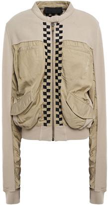 Haider Ackermann Embroidered Twill-paneled Ponte Bomber Jacket