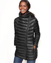 Calvin Klein Faux-Leather-Trim Packable Down Puffer