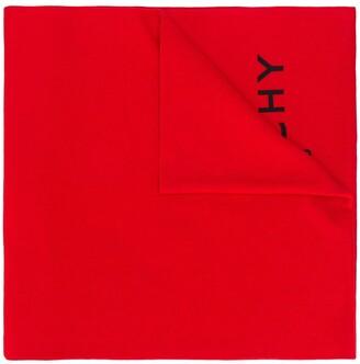Givenchy Ribbed Logo Scarf