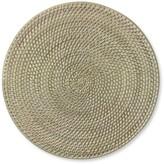 Williams-Sonoma Williams Sonoma White Wash Woven Hapao Round Place Mat