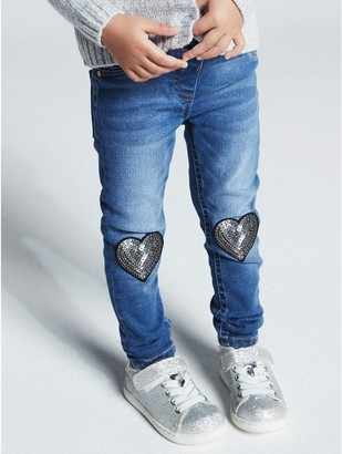 M&Co Love heart sequin jeans (9mths-5yrs)