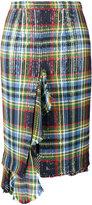 Marco De Vincenzo sequin embellished check skirt