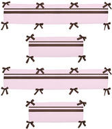 JoJo Designs Sweet Hotel Pink and Brown Collection Crib Bumper