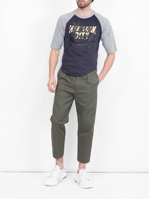 The Last Magazine Navy And Grey Baseball T-shirt