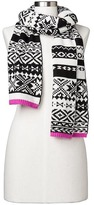 Gap Crazy fair isle merino wool blend scarf