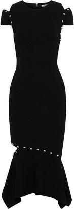 Alice + Olivia Ameera Cutout Studded Stretch-knit Dress