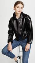 Rebecca Taylor Textured Vegan Leather Jacket