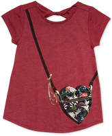 Jessica Simpson Katelyn Heart Purse-Pocket T-Shirt, Big Girls (7-16)