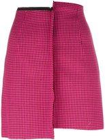Yang Li Pied-de-poule mismatched mini skirt