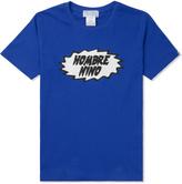 HOMBRE Nino Blue Logo Print S/S T-Shirt