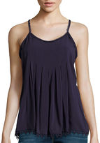 STYLUS Stylus Pleated Cami - Tall