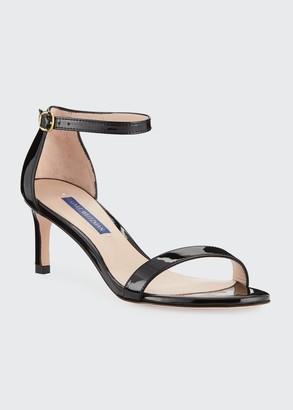 Stuart Weitzman Nunaked Straight Patent Leather Sandals