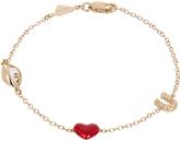 Alison Lou Diamond, enamel & gold Eye-Heart-U bracelet