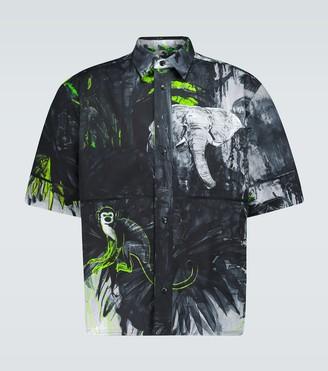 Valentino Mural Jungle printed shirt