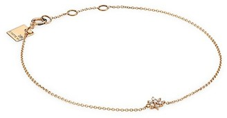 ginette_ny Star 18K Rose Gold & Diamond Mini Pendant Bracelet