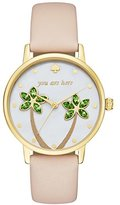 Kate Spade Women's You Are Here Metro Watch, Gold/Tan, One Size