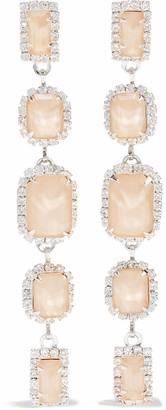 Elizabeth Cole Silver-tone, Swarovski Crystal And Stone Earrings