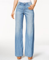 Calvin Klein Jeans Easy Flare-Leg Wash Jeans