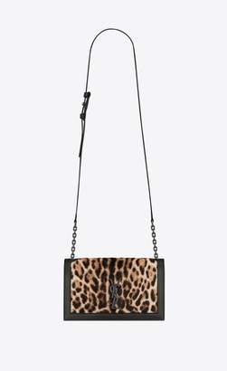 Saint Laurent Book Bag In Ocelot Printed Pony Effect Leather