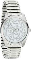 MC M&c Women's | White Face Fashion Watch with Heart designs on Dial | FC0177