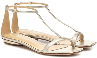 Alexandre Birman Lally metallic leather sandals