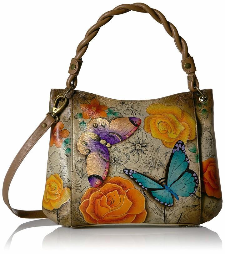 Hand Painted Original Artwork Anna by Anuschka Womens Genuine Leather Small Shoulder Bag