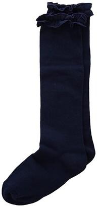 Jefferies Socks Ruffle Knee High Socks 2-Pair Pack (Toddler/Little Kid/Big Kid/Adult)