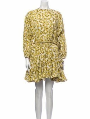 Rhode Resort Floral Print Mini Dress w/ Tags Yellow Floral Print Mini Dress w/ Tags