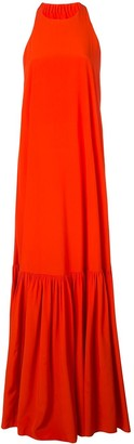 Tibi Halterneck Maxi Dress