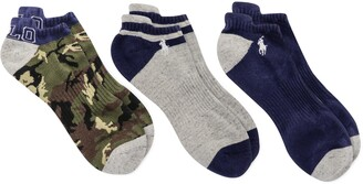 Polo Ralph Lauren Assorted 3-Pack Camo No-Show Socks