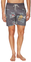 Globe Hibiscus Drawstring Swim Shorts