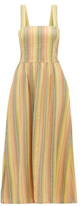 Ace&Jig Willa Striped Crossover-back Cotton Dress - Womens - Multi