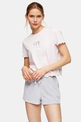 Topshop Womens Blush Pink L'Amour Pyjama Set - Blush