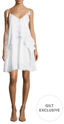 Antik Batik Lyly Cotton Lace Trim Flared Dress